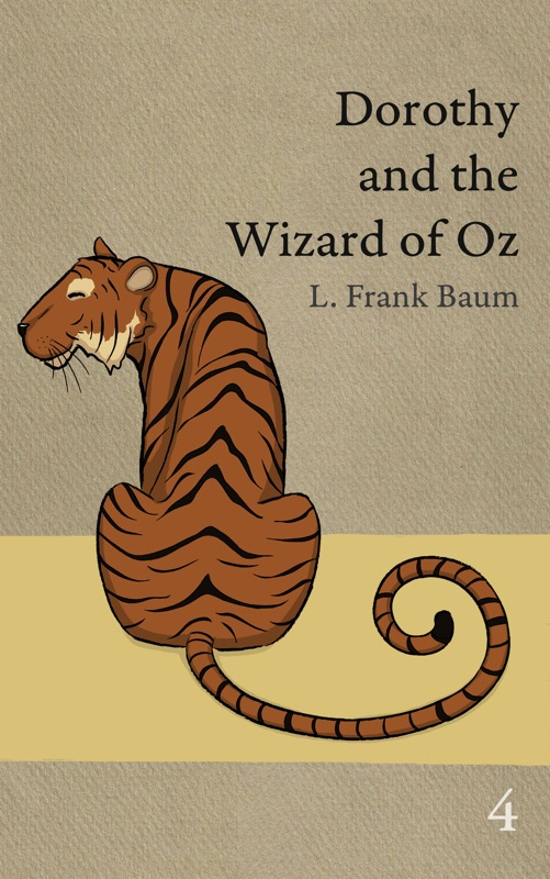 The cover of OZ book 4 showing the Hungry Tiger