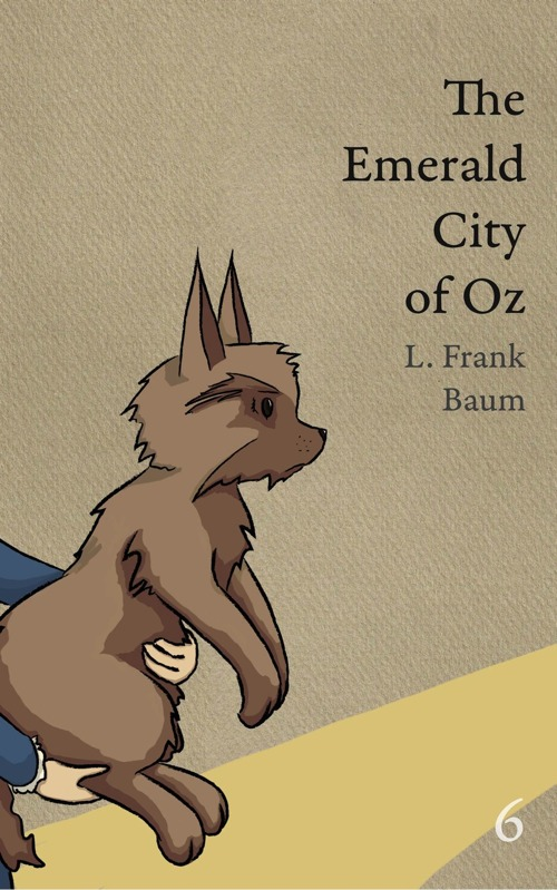 The cover of OZ book 6 showing Toto